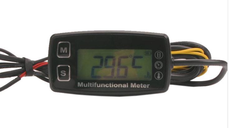 Paramotor Temp Tach Time meter gauge [temp/revs/hours